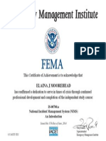 intro  to national incident management system certificate