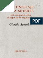 Agamben Giorgio - El Lenguaje Y La Muerte