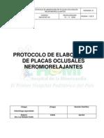 Protocolo Elaboracion Placas Oclusales Neuromiorelajantes