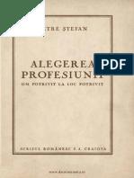 Alegerea Profesiunii Petree Stefan 1941