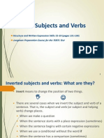 Skills15-19 Inverted Subjects Andverbs