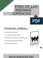 REGISTRO de las personas juridicas