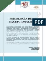 Psicología de La Excepcionalidad