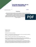 Constitucion Nacional de La Republica Argentina