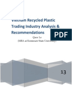 Vietnam Recyled Plastic Trading Analysis