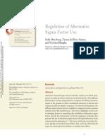 Regulation of Alternative Sigma Factors