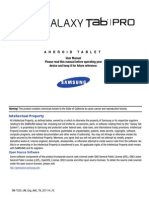 Samsung Galaxy TabPro 10.1 Manual