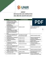 Anexo Informe Conflictividad Agosto 2011