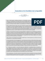 Revue Stabilite Financiere de Fevrier 2008 Etude 13 Innovation Financiere Et La Frontiere de La Liquidite