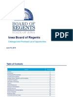 Iowa Board of Regents Efficiency Study