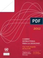 Cepal Cambio Estructural Para La Igualdad
