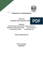 Práctica 4 Laboratorio de Termodinámica 2014-1