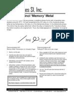 Nitinol Memory Wire