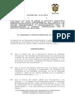 Acuerdo No 45 Estatuto Tributario 2014