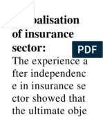 Globalisation of Insurance Sector