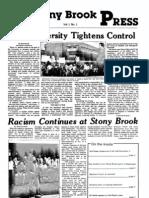 The Stony Brook Press - Volume 1, Issue 1