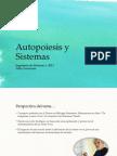 Autopoiesis y Sistemas