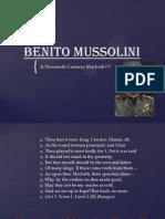 benito mussolini vs macbeth