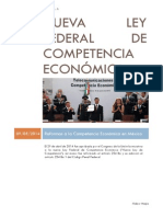 Nueva Ley Federal de Competencia Económica
