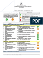 [Final Copy] Governance Cluster Initiatives Q1 2014 Status Report
