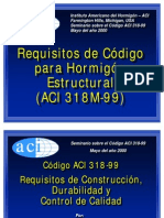 ACI 99 - Requisitos de Diseño