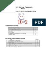 10 Til 2 Sign-Up Paperwork