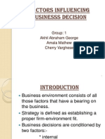 Factors Influencing Businesss Decision Ppt
