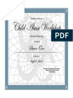 ono child abuse workshop certificate