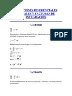 Ecuaciones Diferenciales Lineales y Factores de Integración