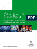 Manufacturing Green Paper