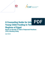 A Counseling Guide for Infant and Young Child Feeding in Two Regions of Egypt