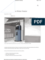 Sizing Water Heater Capacity