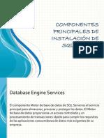 Componentes Principales de Instalación de SQL Server