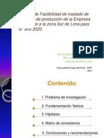Factibilidad Traslado de Planta KPT