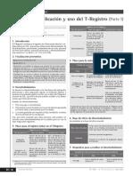 Aplicación y Uso Del T-Registro (Parte I)