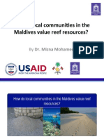 How Local communities value coral reel resources by Dr. Mizna Mohammed