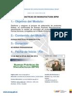 BPM (Buenas Practicas de Manufactura) -CURSO