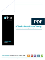 UTest 8 Tips for Android App Success