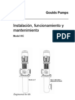 Bomba Tipo Turbina Vertical Manual