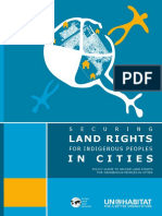 Securing Land Rights for Indigenous Peoples in Cities