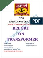 Apg Jitendra Report on Tranformer (Repaired)