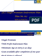 single premium endowment plan-817