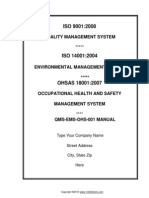 Ims Iso 9001 Iso 14001 Ohsas 18001 Documentation Package