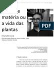 Coccia, Emanuele - Mente e Matéia Ou a Vida Das Plantas