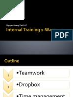Internal Training 1 (Draft 1) 31 Aug 2013