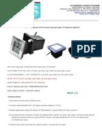 4x1w LED Inground Light Technical Datas