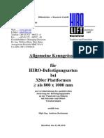 Allgemeine Kenngrössen Für HIRO-Befestigungsarten Bei 325-329