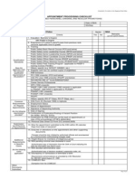 Appointment Processing Checklist