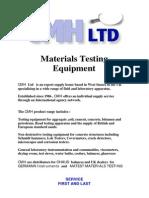 CMH Test Catalogue