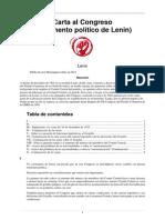 Carta Al Congreso (Testamento Político de Lenin) - Lenin